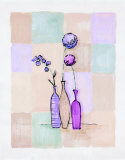 Modern Vases with Alliums Posters by Josephine French