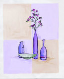 Modern Vases with Bowl Posters by Josephine French