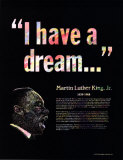 Great Black Americans - Martin Luther King Jr. Kunst
