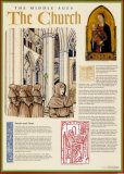 The Middle Ages - The Church Plakat