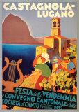 Castagnola-Lugano – Weinfest Kunstdrucke von Otto Ernst
