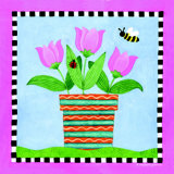 Potted Flowers III Prints by S. Peterson