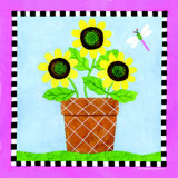 Potted Flowers I Prints by S. Peterson