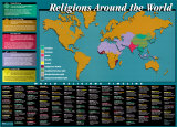 World Religions Map & Timeline Posters