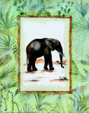 Jungle Elephant Print by Marie Frederique