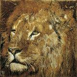 Portrait eines Löwen Kunstdrucke von Fabienne Arietti