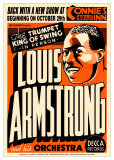 Louis Armstrong - Connie&#39;s Inn, NYC 1935 Poster par Dennis Loren