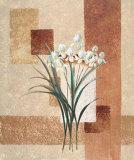 Delicate Flowers II Print by Karin Valk