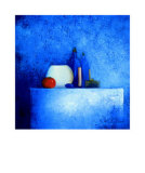 Still Life in Blue II Poster by Anouska Vaskebova