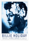 Billie Holiday at Town Hall, New York City, 1948 Posters van Dennis Loren