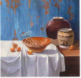 Aged Pots with Onions Poster by Karin Valk