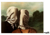 Les Amants Poster von Rene Magritte