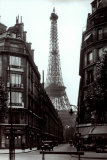 Paris Street circa 1925 Prints