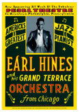 Earl Hines &amp; His Grand Terrace Orchestra, Pearl Theatre, PA 1929 Affiche par Dennis Loren