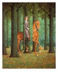 Le blanc-seing Affiches par Rene Magritte