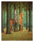 El cheque en blanco Láminas por Rene Magritte