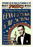 Benny Goodman Orchestra at the Stanley Theatre, Pittsburgh, Pennsylvania, 1936 Poster by Dennis Loren