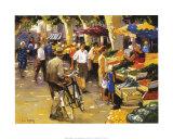 Auf dem Markt Kunstdrucke von Andre Deymonaz