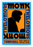Thelonius Monk - Town Hall, NYC 1959 Posters par Dennis Loren