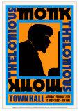 Thelonius Monk - Town Hall, NYC, 1959 Poster di Dennis Loren