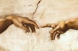 Michelangelo Creation of Adam Art Print Poster - Poster