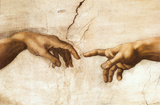 Michelangelo Creation of Adam Art Print Poster ポスター