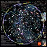 Carte de l&#39;Univers - &#169;Spaceshots Affiche