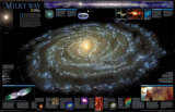 Milky Way Chart - &#169;Spaceshots Poster