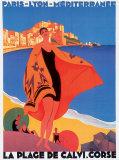 地中海 ポスター : ロジェ・ブロデール