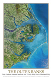 Outer Banks North Carolina from Space Poster