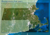 Massachusetts from Space Poster