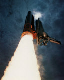 NASA - Columbia Launch Into Clouds  - ©Spaceshots - Art Print