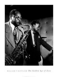 Coleman Hawkins and Miles Davis Print by William P. Gottlieb