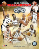 San Antonio Spurs 2003 NBA Championship Composite Photo