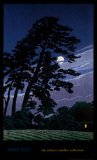 Moon at Magome Posters by Kawase Hasui