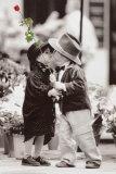 Primer beso Pósters por Kim Anderson