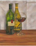 Wine Series I Print by Jennifer Goldberger