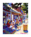 Nuffer's Colorful Cafe Giclee Print by Curney Nuffer