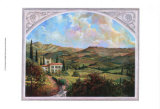 Tuscan View Art by Dot Bunn