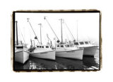Work Boats Giclee Print by Laura Denardo