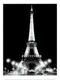 La torre Eiffel de noche Láminas por Cyndi Schick