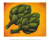 Two Artichokes Posters by Will Rafuse
