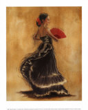 Flamenco Dancer II Art by Caroline Gold
