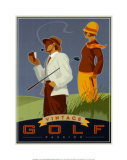 Vintage Golf, Passion Posters by Si Huynh
