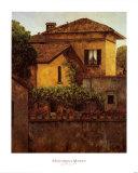 Golden Villa Posters by Montserrat Masdeu