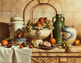 Italian Still Life with Green Grapes Affiches par Loran Speck