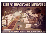 De Hollandsche Revue Reproduction proc&#233;d&#233; gicl&#233;e par Johan Georg Van Caspel