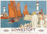 Lowestoft Sailing Rail Giclee Print by Kenneth Shoesmith