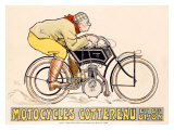 Motocycles Cottereau Giclee Print