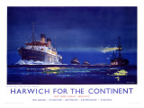 Harwich for the Continent Giclee Print by Frank Mason